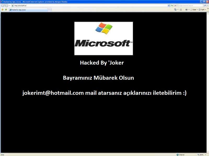 Hack Dünyası – Türk Hacker Joker Microsoftu Hackledi