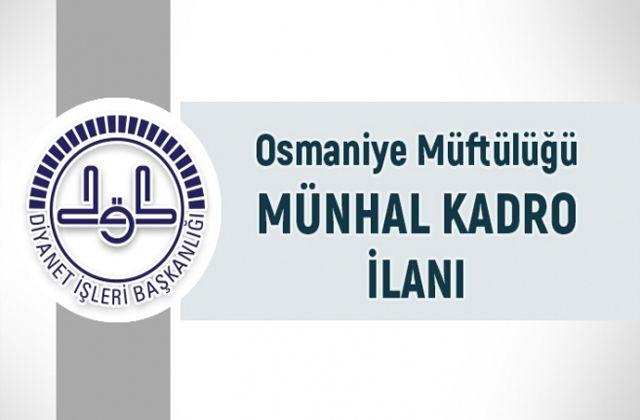 Osmaniye İl Müftülüğü münhal ilanı