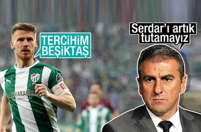 Serdar Aziz'in gönlü Beşiktaş'tan yana