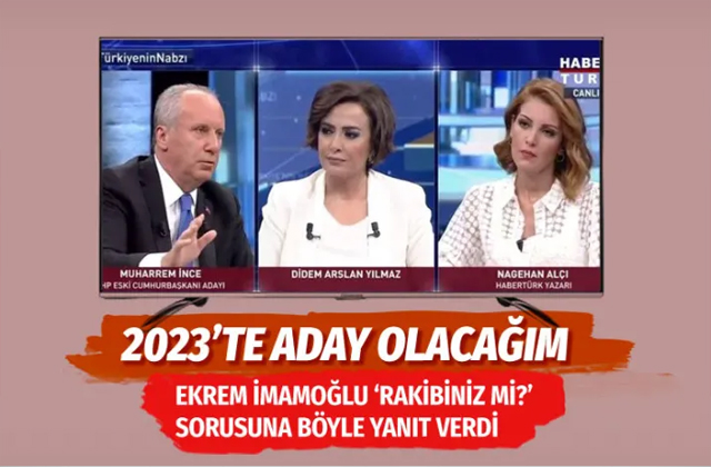 """Ekrem İmamoğlu siyasi rakibiniz mi?"""" sorusuna Muharrem İnce'den yanıt"""