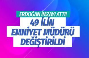Erdoğan imzayı attı! 49 ilin emniyet müdürü değişti Resmi Gazete'de