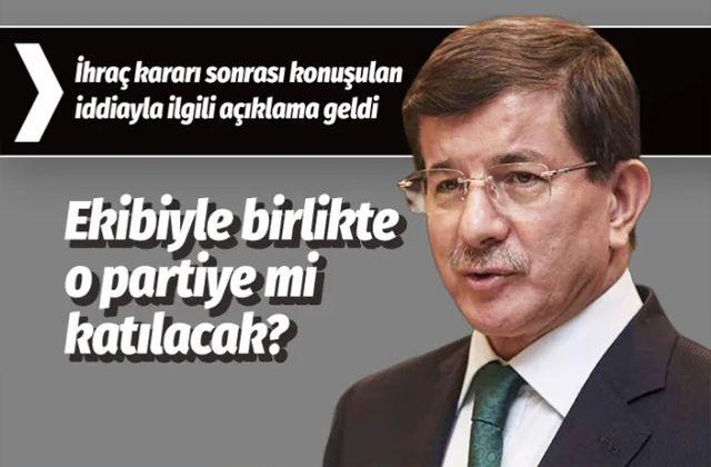 Ahmet Davutoğlu ve ekibi Saadet Partisi'ne mi katılıyor?