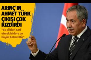 """Bülent Arınç'ın, """"Ahmet Türk'ün terörle alakası yoktur"""" sözlerine tepki"""