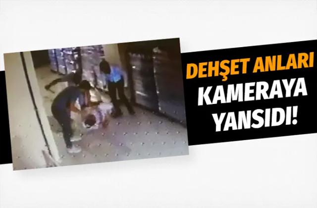 Kocaeli'de servis sürücüsünün darp edilme anı kameralara yansıdı