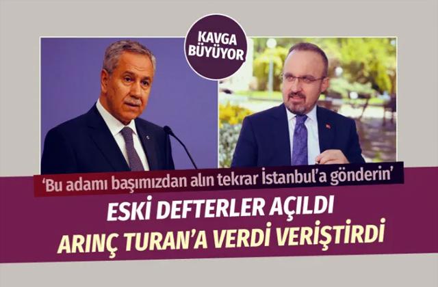 Kavga büyüyor! Bülent Arınç kendisini eleştiren Bülent Turan'a verdi veriştirdi