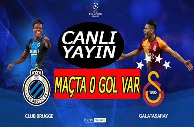 GALATASARAY CLUB BRUGGE Maçı Canlı yayın/Aslan gol için bastırıyor
