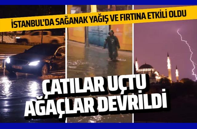 İstanbul'da kuvvetli fırtına ve sağanak ile ilgili görsel sonucu
