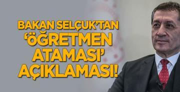 Bakan Selçuk'tan 'öğretmen ataması' açıklaması!