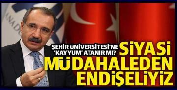 Ömer Dinçer'den 'İstanbul Şehir Üniversitesi'ne kayyum atanır mı?' sorusuna cevap