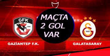 Galatasaray Gaziantep Maçı Canlı YAYIN/maçta 2 gol var