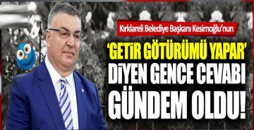 Kırklareli Belediye Başkanı Mehmet Siyam Kesimoğlu Twitter'da gündemde