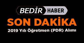 2019 Yılı Öğretmen (PDR) Alımı Sınavı