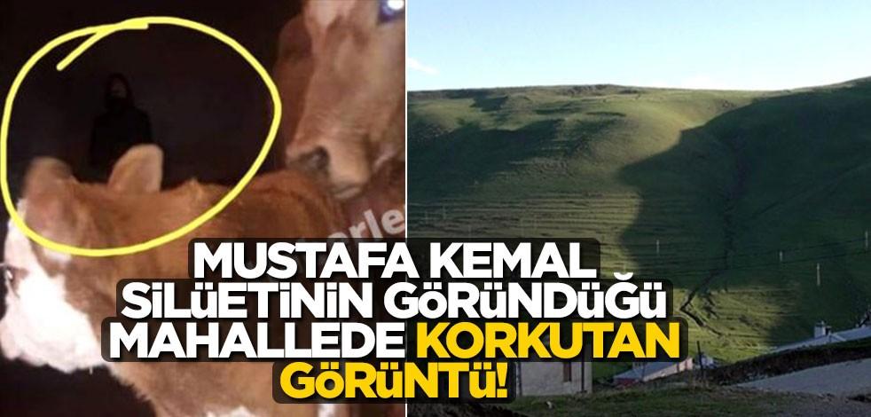 Mustafa Kemal silüetinin göründüğü mahallede korkutan görüntü!