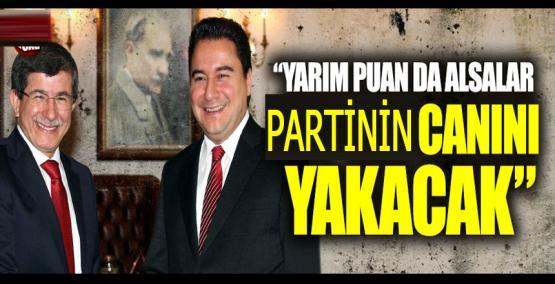 """Yarım puan da alsalar AK Parti'nin canını yakacak"""""""