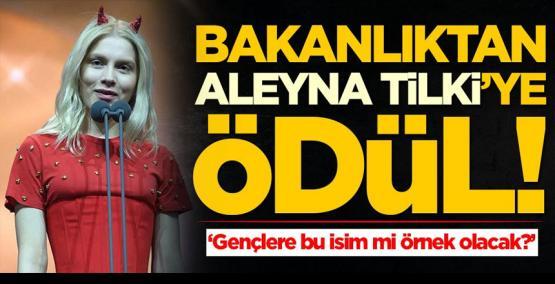 Bakanlıktan Aleyna Tilki'ye ödül! 'Gençlerimize bu isim mi örnek olacak?'
