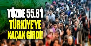 Suriyelilerin yüzde 55.8'i Türkiye'ye kaçak girdi!