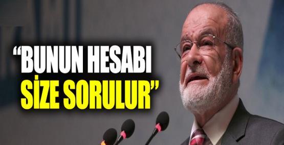 """Temel Karamollaoğlu: """"Bunun hesabı size sorulur"""""""