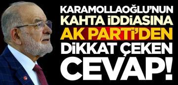 Temel Karamollaoğlu'nun Kahta iddiasına AK Parti'den cevap!