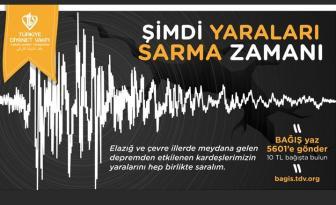 Türkiye Diyanet Vakfından Elazığ İçin Yardım Kampanyası