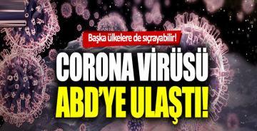 Ölümcül Corona virüsü ABD'de görüldü!