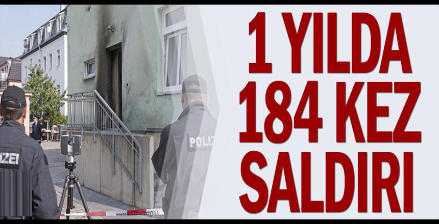 1 yılda 184 kez saldırı