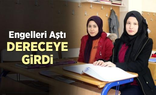 Görme engelli Esra, Kur'an-ı Kerim'i Güzel Okuma Yarışmasında üçüncü oldu