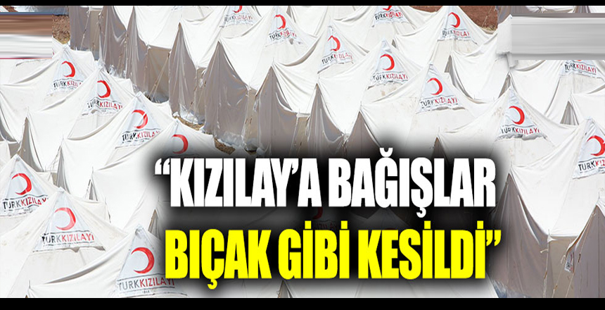 """Bülent Kuşoğlu: """"Kızılay'a bağışlar bıçak gibi kesildi"""""""
