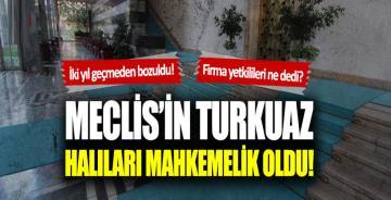 TBMM'nin turkuaz halıları mahkemelik oldu!